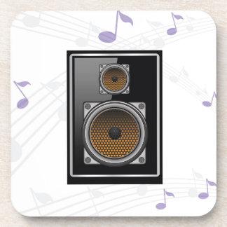 note speaker coaster
