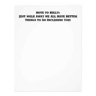 Note to Bully: Just Walk Away - Anti Bully Full Colour Flyer
