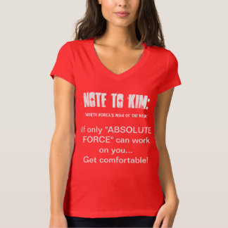 "NOTE TO KIM: If only ""ABSOLUTE FORCE"" can work on T-Shirt"