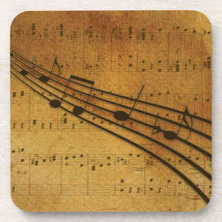 Note vintage style coaster