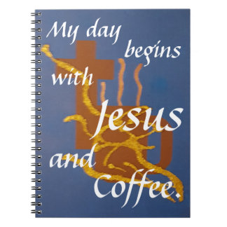 Noteboo  Jesus and Coffee Notebook