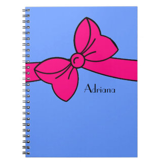 notebook_#230 large tied bow notebooks