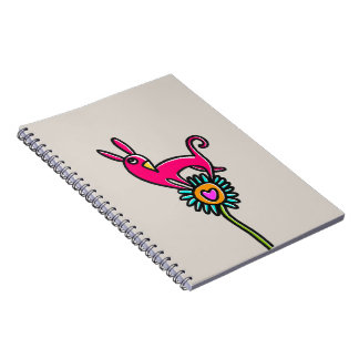 Notebook adorned with a comic personage