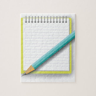 notebook and pencil jigsaw puzzle