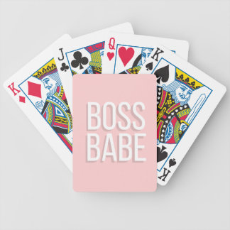 Notebook BOSS BABE Journal in Pink Bicycle Playing Cards
