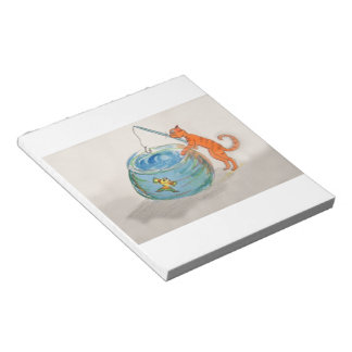 Notebook - Cat fishing Notepad