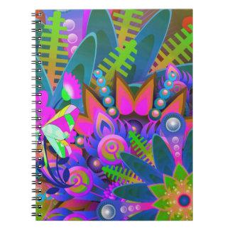 Notebook:  Color burst patterns Notebooks