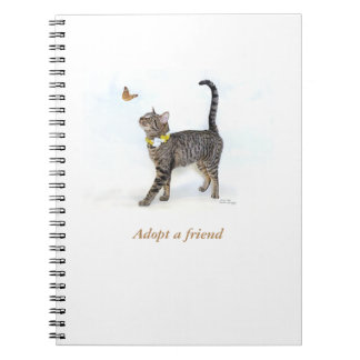 Notebook featuring Tabatha, the Tabby