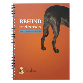 Notebook for field notes from behind the scenes