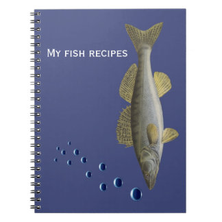 Notebook for fish recipes