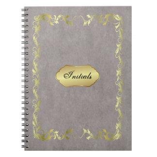 notebook initials