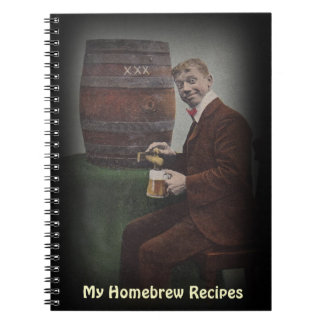 Notebook Journal Homebrew Recipe Book Antique Fun