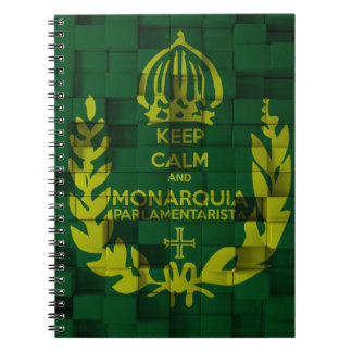 Notebook Keep Clam and Parlamentarista Monarchy