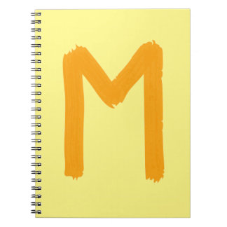 Notebook Letter M
