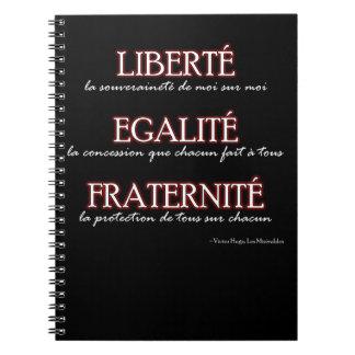 Notebook: Liberté, Egalité, Fraternité Notebooks