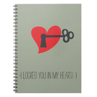 Notebook - locked you in my heart