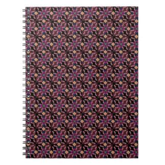 Notebook moroccan tiles in maroon
