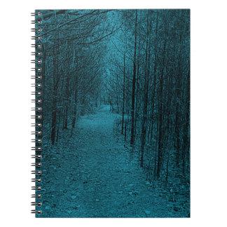 Notebook - Nature Trail Pattern Light Blue