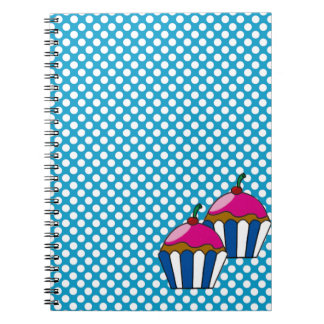 Notebook of cupcake with small balls
