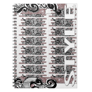 Notebook of style black arabesques