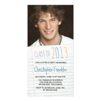 Notebook Paper 2013 Graduation Party Invites Picture Card
