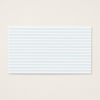 Notebook-Paper Business Card