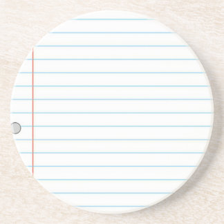 Notebook Paper Drink Coasters