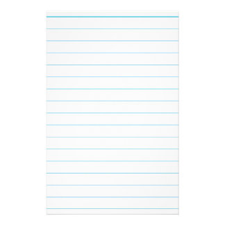 Notebook Paper Stationery Design