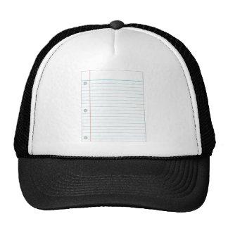 Notebook Paper Trucker Hat