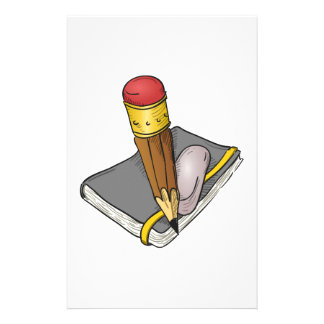 Notebook Pencil and Eraser Stationery