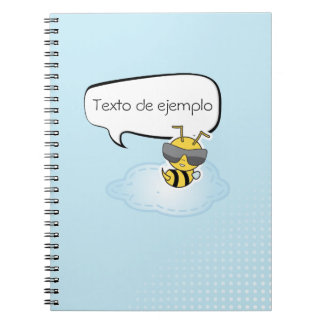 Notebook personalizable comic in blue