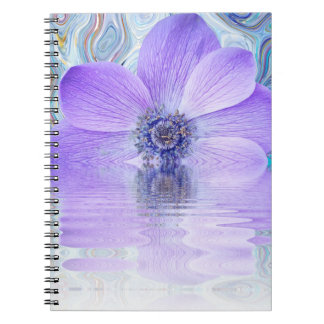 Notebook, Purple flower burst Notebooks