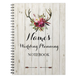 Notebook Rustic Wedding Planning Ideas Notes Bride