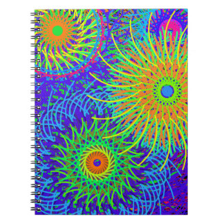 notebook spiral with layer colored in spiral