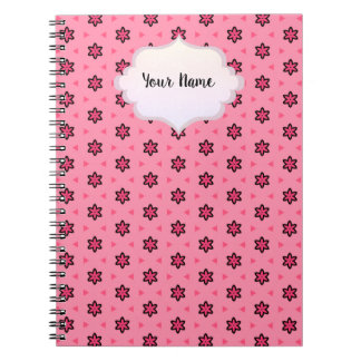 Notebook stars light red
