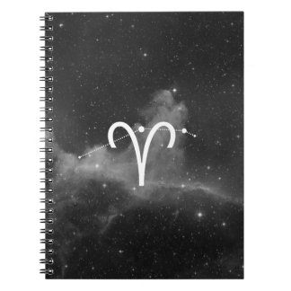 Notebook the Aries Zodiac (Black)