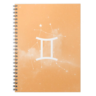 Notebook the Géminis Zodiac (Orange)