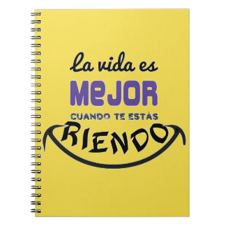 Notebook the life is better when you are laughing