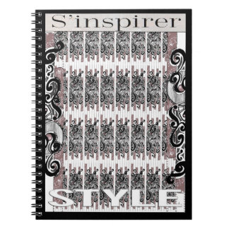 """Notebook """"to be inspired style"""", black arabesques"""