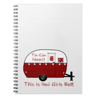 NOTEBOOK | Vintage Red Camper | Personalize It!