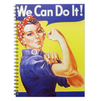 Notebook Vintage Rosie The Riveter Wome Can Do It