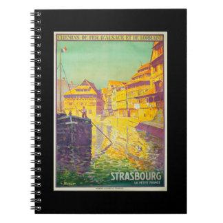 Notebook-Vintage Travel-Strasbourg Notebook