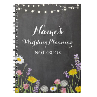 Notebook Wild Flowers Wedding Planning Ideas Notes