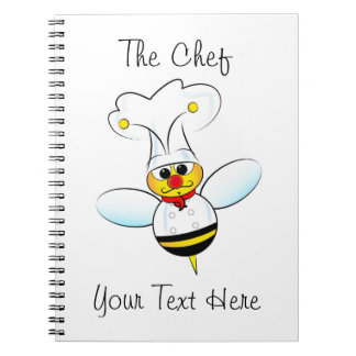 Notebook with bee chef