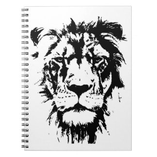 Notebook with black and white print Leo