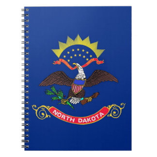 Notebook with Flag of North Dakota State