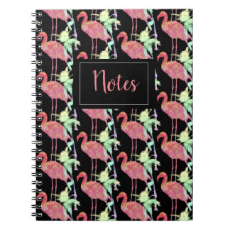 Notebook with photo Pink flamingo