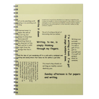 notebook with quotes cover