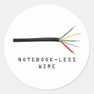 notebookless wire round sticker