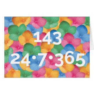 Notecard - 143, I Love You
